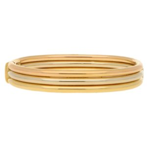Cartier Trinity bracelet in 18k tri-colour gold.