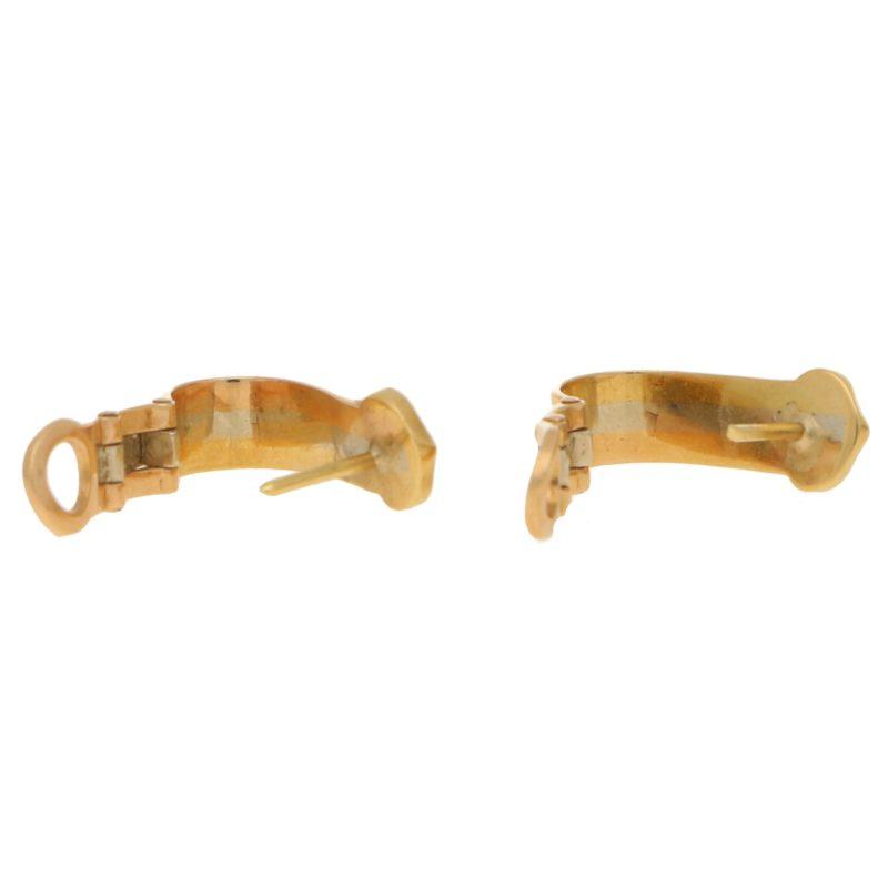 Cartier C de Cartier earrings in 18k tri-colour gold.