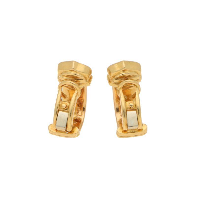 Cartier C de Cartier diamond earrings in 18k tri-colour gold.