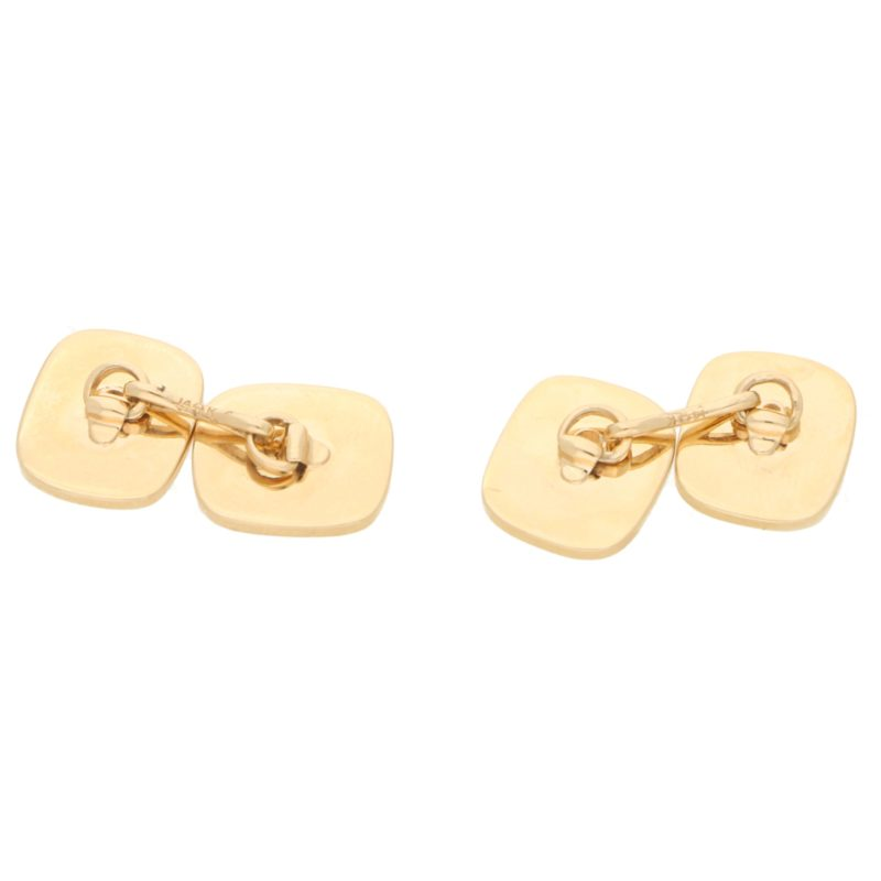 Cushion-Shape Cufflinks in 14kt Yellow Gold