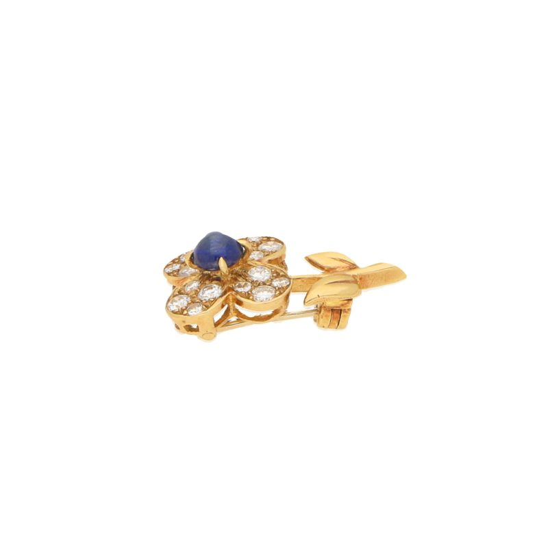 Van Cleef & Arpels Sapphire and Diamond Flower Brooch