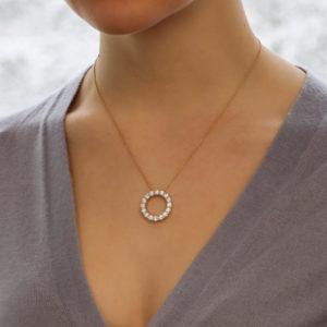 Diamond Circle Necklace