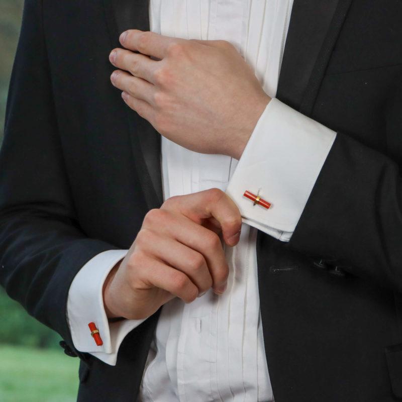 Cartier Lapis and Coral Interchangeable Baton Set