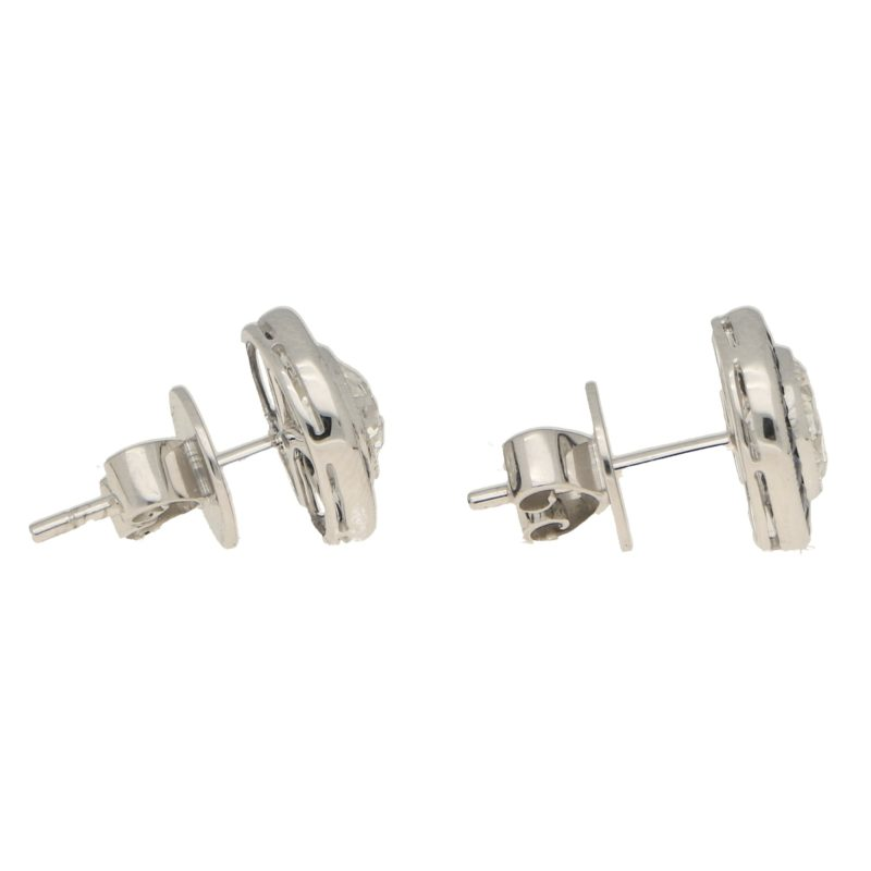 Diamond and sapphire earstuds