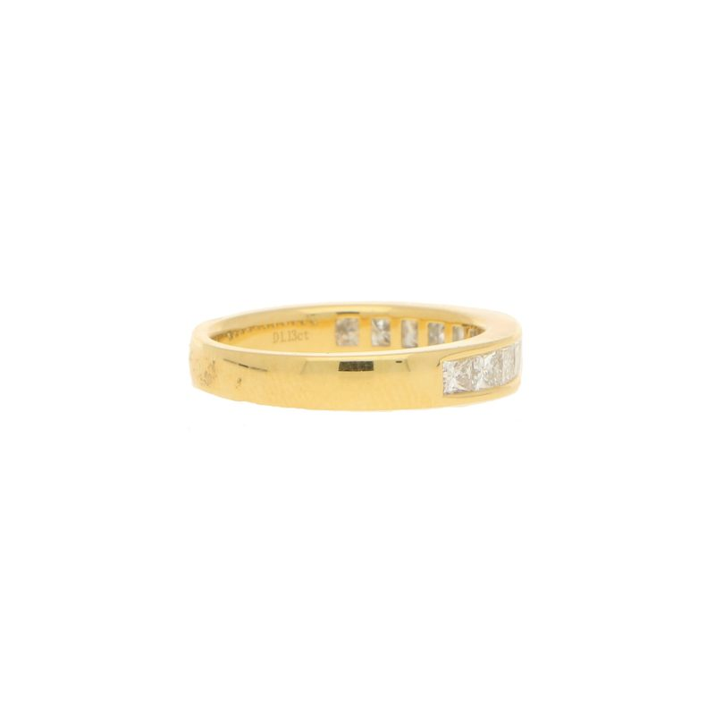 Eternity Ring With Princess Cut Diamonds - set half way round