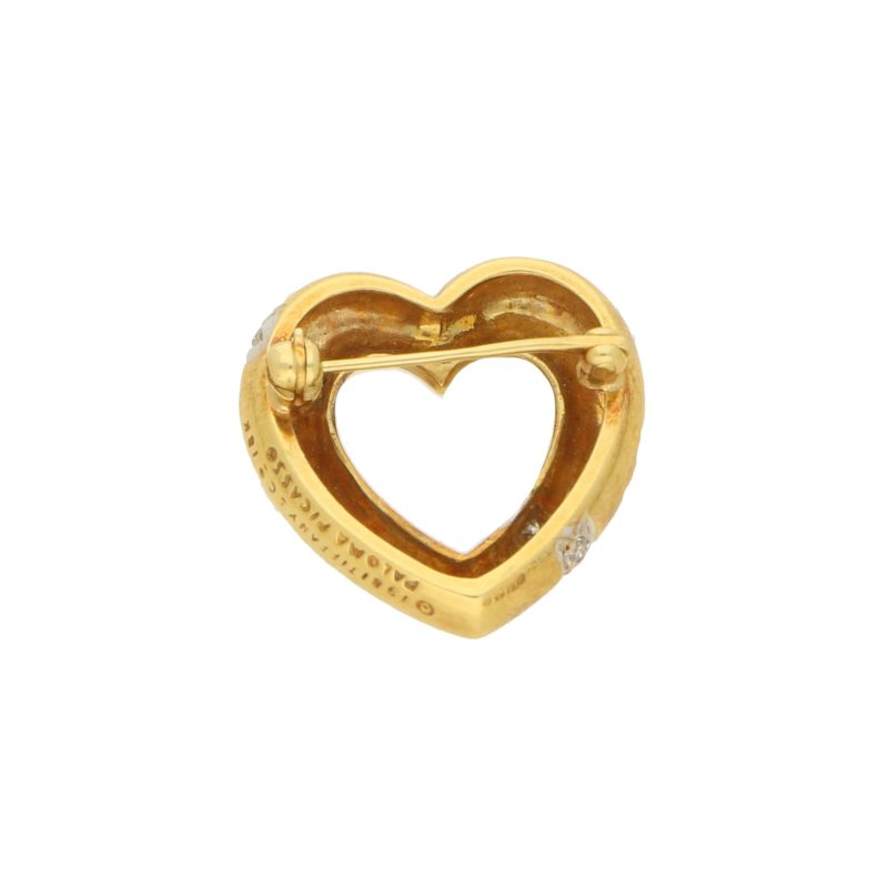 Tiffany & Co. Gold and Diamond Diamond Heart Brooch