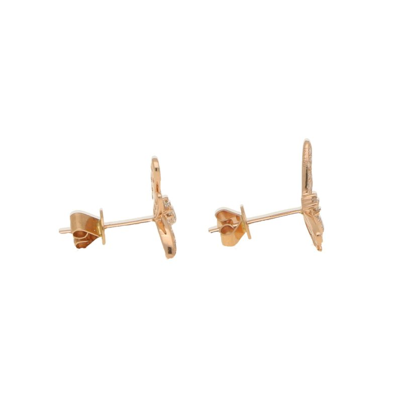 Rose Gold & Diamond Dragonfly Earrings