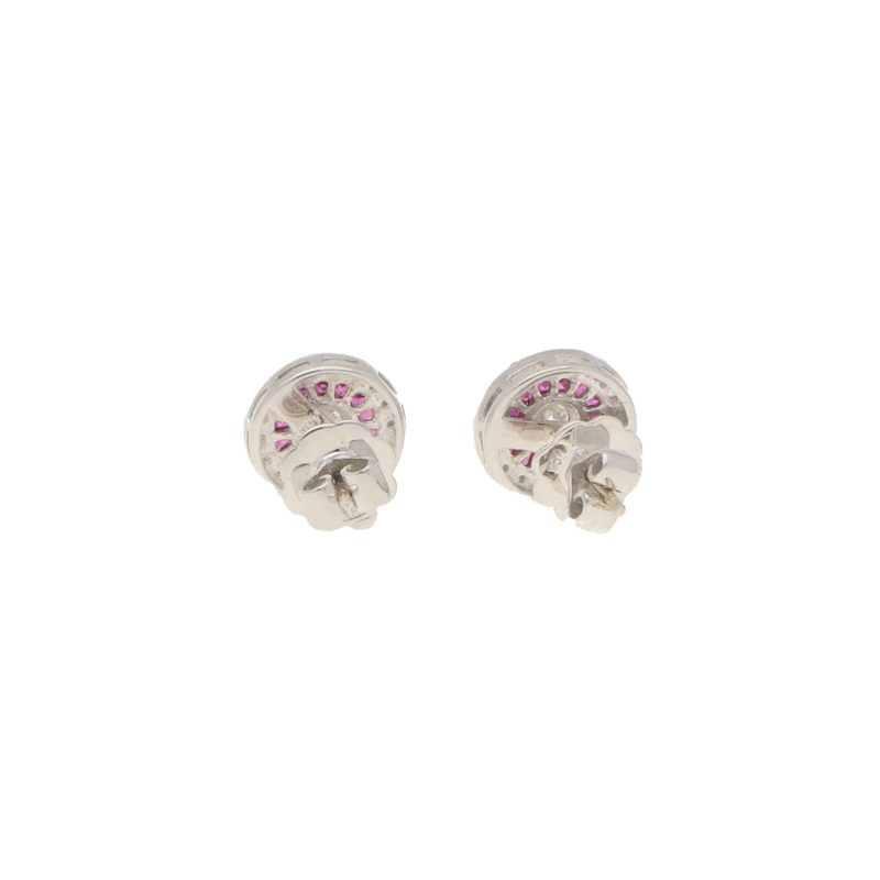 Diamond & Ruby Target Stud Earrings