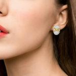 Vintage Diamond Domed Earrings