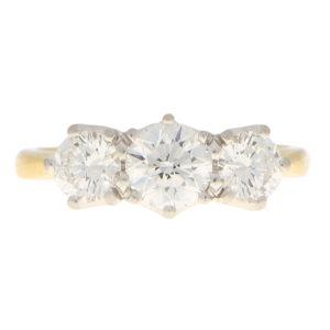 GIA Certified Diamond Three Stone Ring