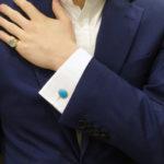 Turquoise Enamel Cufflinks
