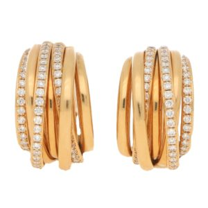 De Grisogono Allegra Diamond Multi Row Earrings