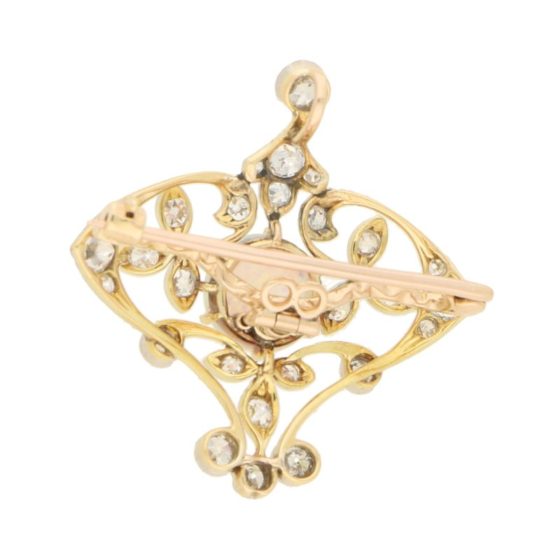 Edwardian Opal and Diamond Pendant/Brooch