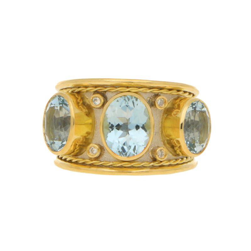 Aquamarine Byzantine Ring