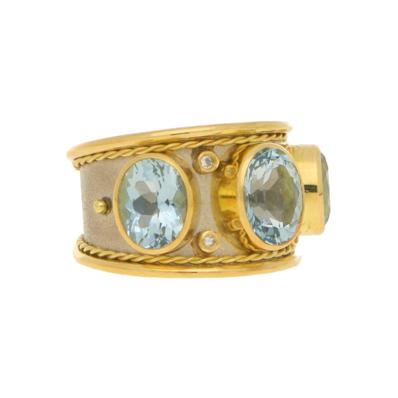 Aquamarine Byzantine Ring