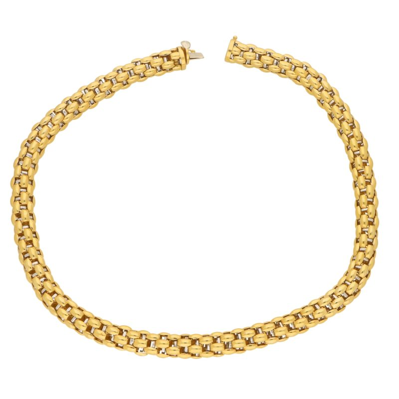 18ct Gold Fope Rope Necklace