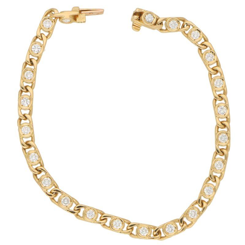 Van Cleef & Arpels Openwork Diamond Line Bracelet