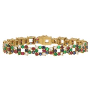 Boucheron Multi Gem Set Bracelet
