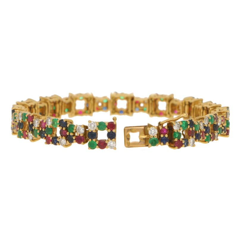Boucheron Multi Gem Set Bracelet