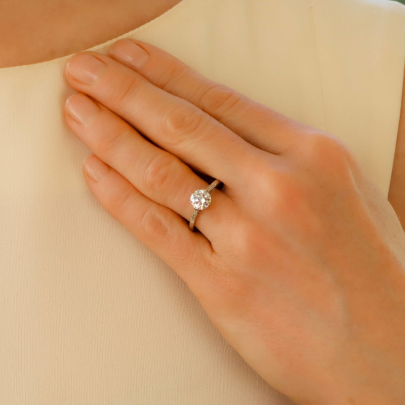 Solitaire Diamond Engagement  Ring 1.20 carats