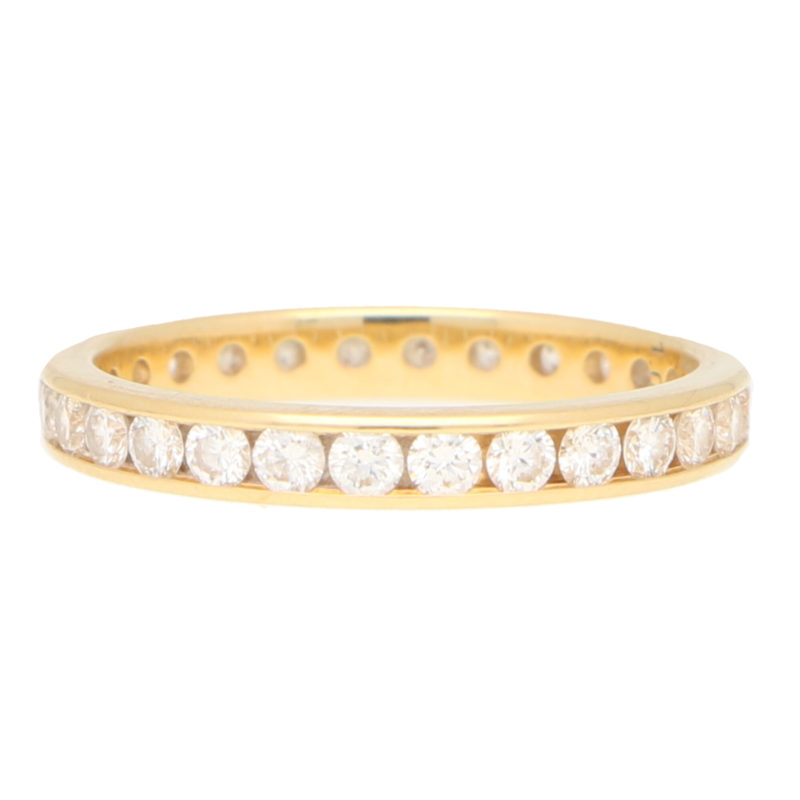 Invisibly Set Diamond Full Eternity in Yellow Gold