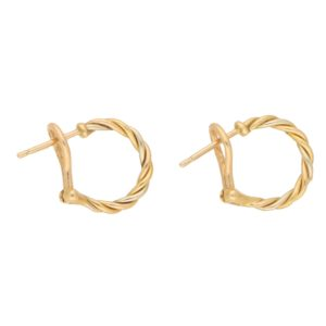 Cartier Tri-Colour Twisted Hoop Earrings