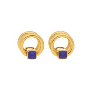 18ct Yellow Gold & Lapis Lazuli Snaffle Cufflinks