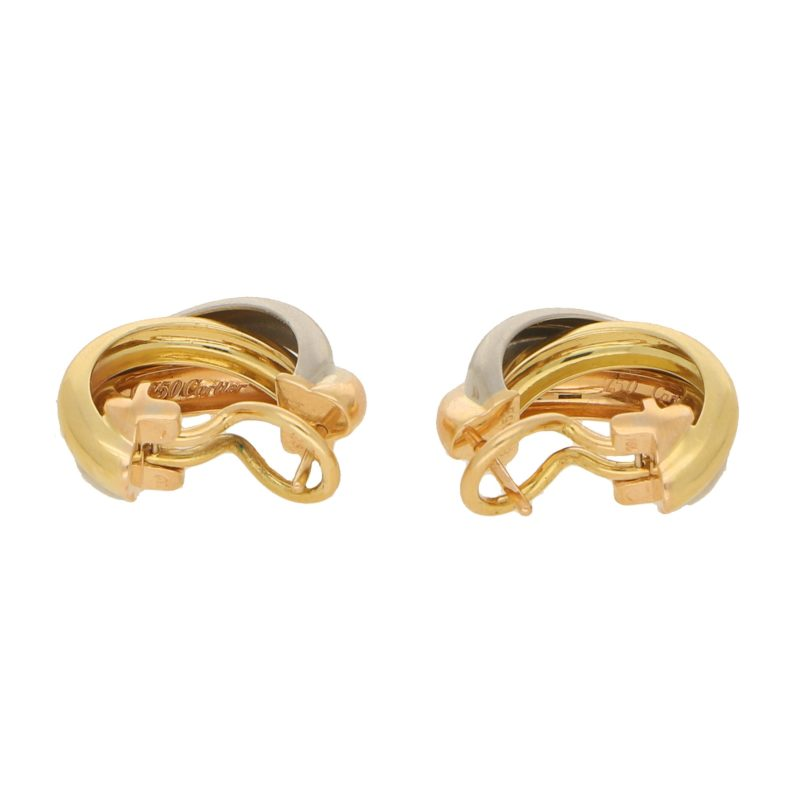 Vintage Cartier Trinity Hoop Earrings
