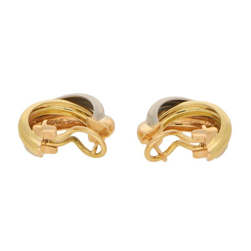 Vintage Cartier Trinity Hoop Earrings