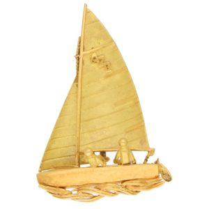 Yellow Gold Sailing Brooch