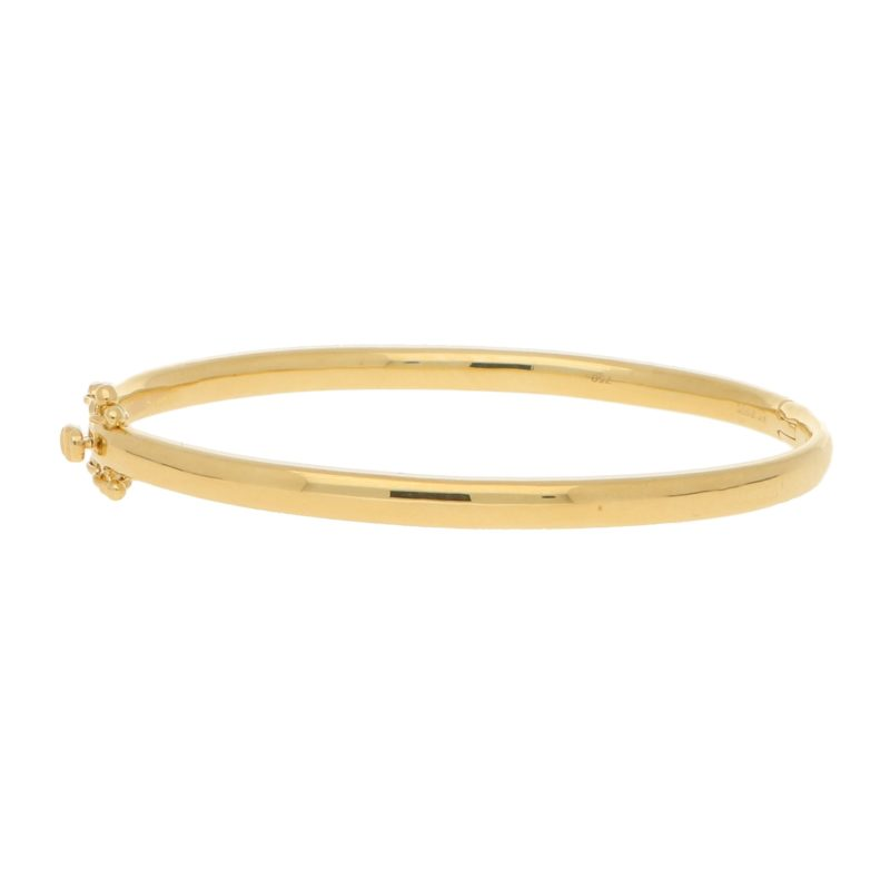 Gold bangle 4mm wide