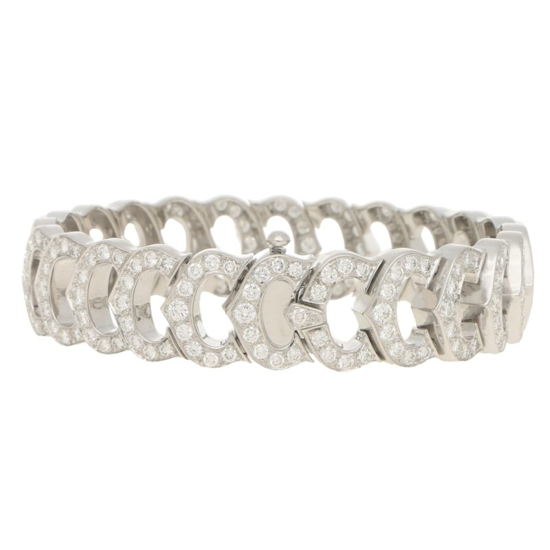 "Cartier diamond set ""C"" de Cartier bracelet"