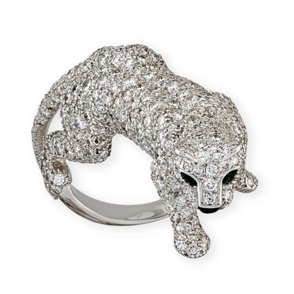 Cartier diamond set panthere ring
