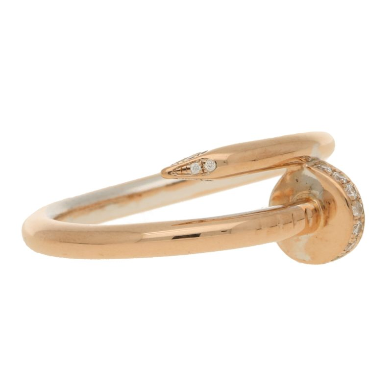 Juste un Clou diamond set rose gold ring