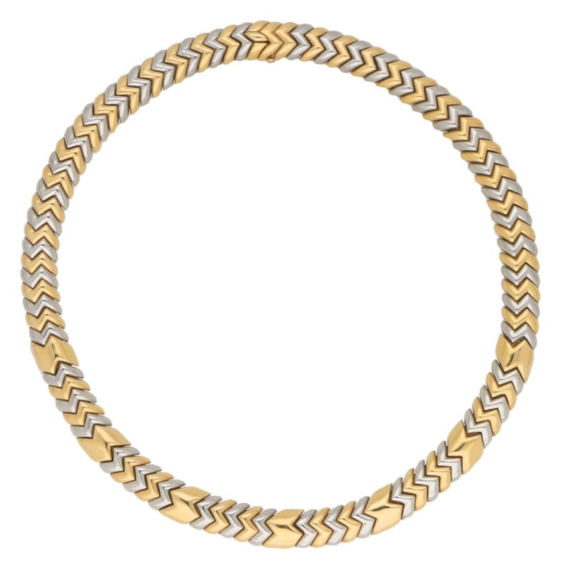 Yellow and White Gold Bulgari Spiga