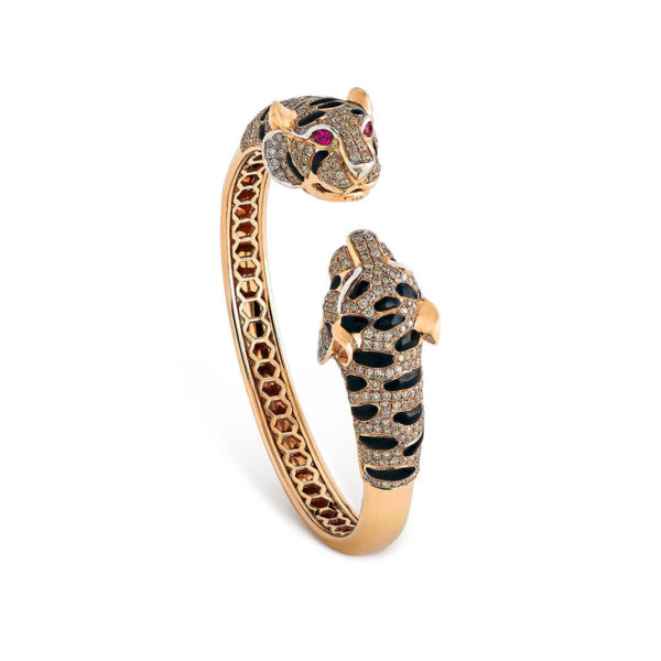 Tiger Bangle with Ruby eyes