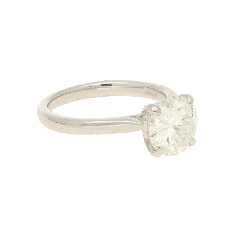 2.05ct Round Brilliant-Cut Diamond Solitaire Ring in Platinum