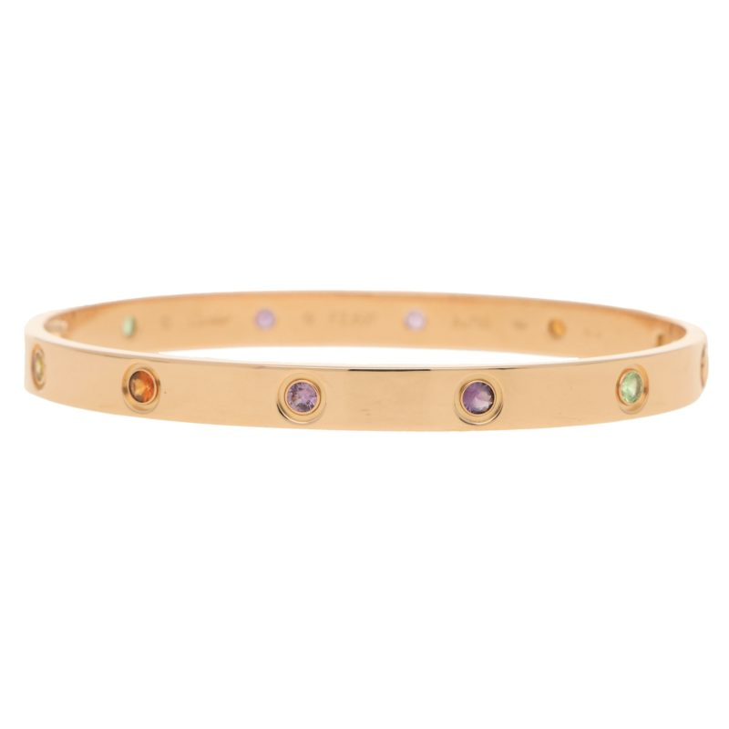 Cartier Rainbow Love Bangle Size 19