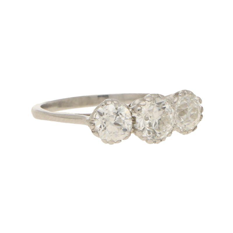 Early 20th Century Diamond Three Stone
