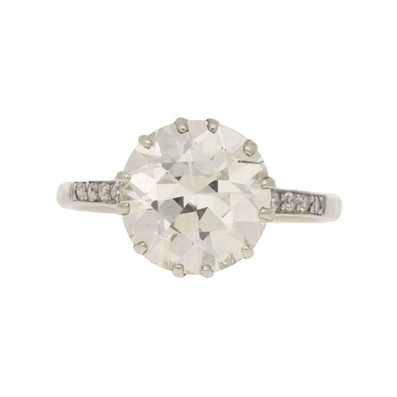 3.95ct Diamond Single Solitaire in Platinum