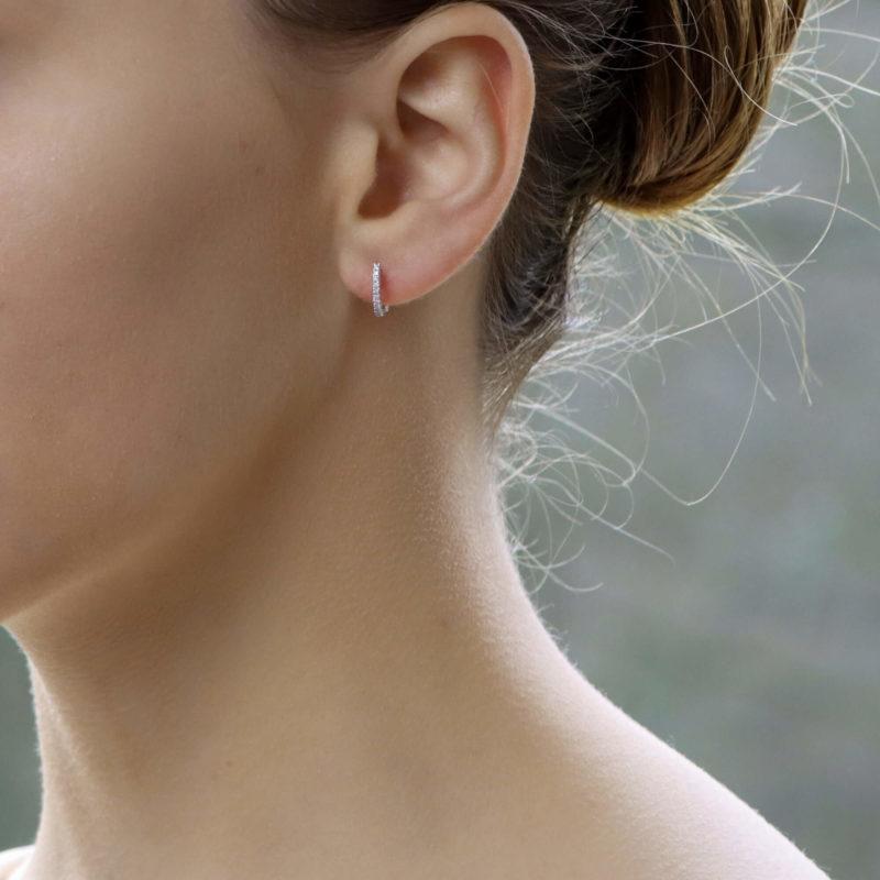 Diamond earhoops