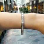 Baguette Cut Diamond Line Bracelet
