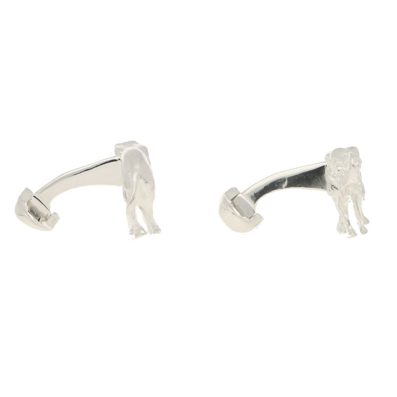 Elephant Swivel Cufflinks in Solid British Sterling Silver