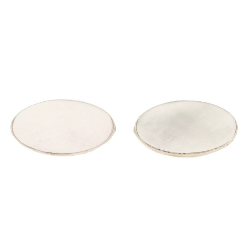 Mother-of-pearl Oval Swivel Cufflinks in Sterling Silver