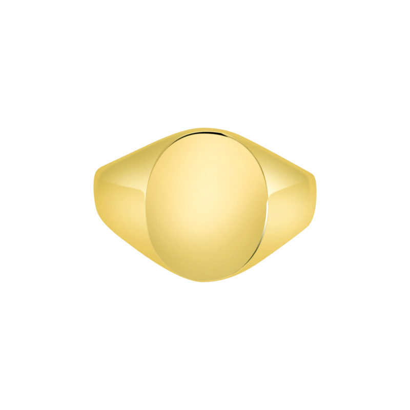 18k yellow gold Oxford Oval Signet ring