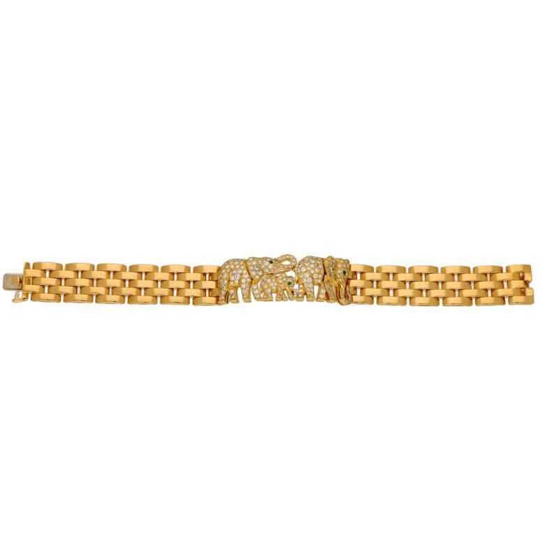 Vintage Elephant Maillon Panthère Bracelet
