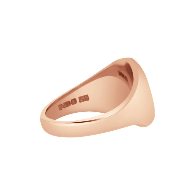 9k rose gold Oxford Oval Signet ring