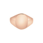 9k rose gold Oxford Oval Signet ring
