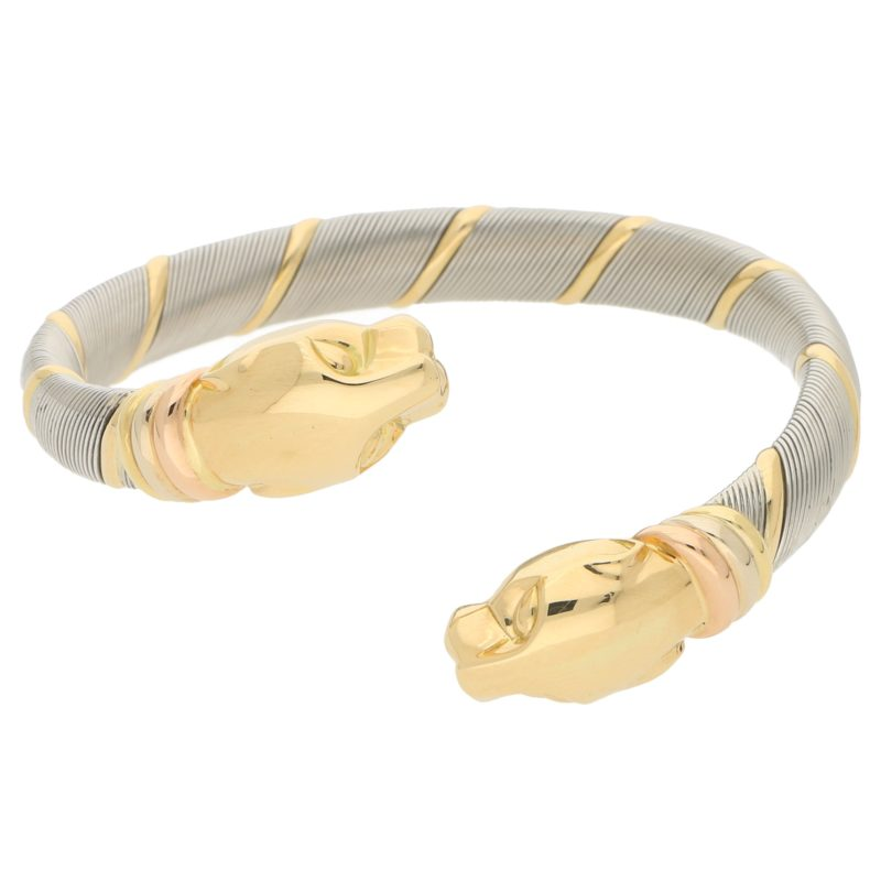 Cartier Panthère Bangle in Stainless Steel and Yellow Gold