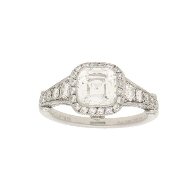 Tiffany & Co. Legacy Asscher Cut Diamond Engagement Ring